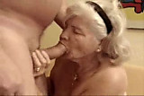 No Sound: Very old granny finally drinks my cum