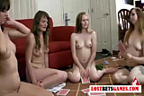 Super hot teens playing strip games