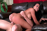 Latina brunette stunner riding starved phallus with lust