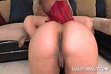 Big ass slutty girls blow and jump huge pecker in turns