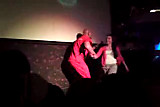 Male Stripper falls on stage (CFNM)