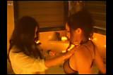 Sunny Leone and Aria Giovani fireside