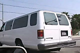 Misty Mendez DP fucked in a van