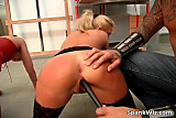 Blonde beauty bends over and gets that ass canned