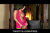 Twistys - Horny perky-tit babe Aspen Rae plays with herself