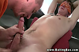 Blindfolded straight guy sucked off by twink