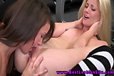 Young blond les amateur gets frisky