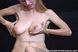 Naked blonde jerk off teacher spreads & caresses her body