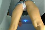 Upskirt on Webcam - Columbian Teen