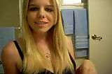 blonde in the webcam
