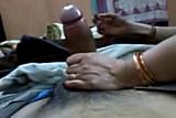 Indian big boobs milf strokes big one