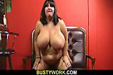 Huge barmaid jump on cock