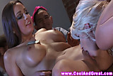 Anikka Albrite and Abigail Mac eat wet minge
