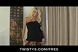 Twistys -  HOT blond MILF Alicia Secrets teases & masturbate