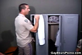 No Sound: Cock Sucking Cops in the Locker Room