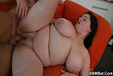 Cooking BBW gets lured into sex