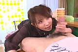 Mosaic: Cute Asian blow and handjob