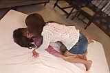 Japanese lesbians making love in the Livingroon