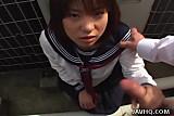 Japanese girl sucks cock Uncensored