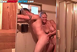 Amateur couple having fun in the shower