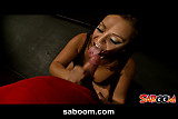 Liza Del Sierra gives a Blowjob in the Toilet of a Club