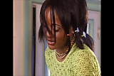 Ebony French maid anal