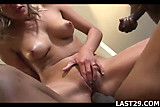 British babe gets interracial cock