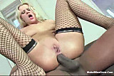 Mandigo fucked a blonde babe and get creampie