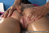 Sexy massage fuck with a horny brunette