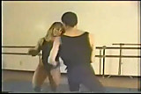 FBB Sharon Marvel wrestling a guy