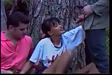 Tania Russof threesome in the forest