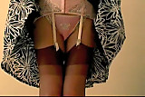 Pink Girdle Nylon Panties