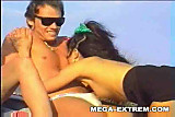 Swinger outdoor beach gang-bang ! Real public group sex !!! Part I
