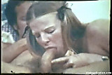 Vintage pig-tailed girl fucking and sucking