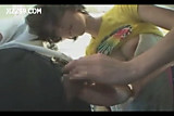 Mosaic; anthomaniac girl in train gives geek handjob