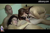 Old old and young girl blowjob
