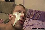 Face covered with massive cumshot