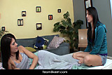 Horny teens Megan and Brittany lesbian 69 sex