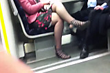 Candid Sexy Crossed Legs 8. Hot Mature! ( slow motion)
