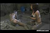 Asian Lesbian Mud Slave