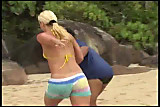 Brazillian Blonde Teen Anal On Beach
