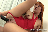 Redhead babe Lucy Bell toying with her pussy until she squirts