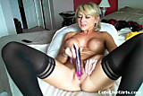 Cam; hot blonde with nice tits fucking herself 5