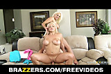 Brazzers - Two busty blonde girlfriends tease a pepping tom