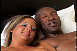 Black fuck meat pounds her white cunt