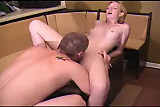 Blonde gets Fucked On A Foot Stool