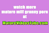 Blonde old mature lady shaved and screwed