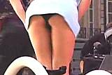 Alizee Upskirt - Black Thong