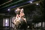 Nipple slip - girl riding a bull