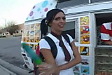 Stephanie with ice cream man
